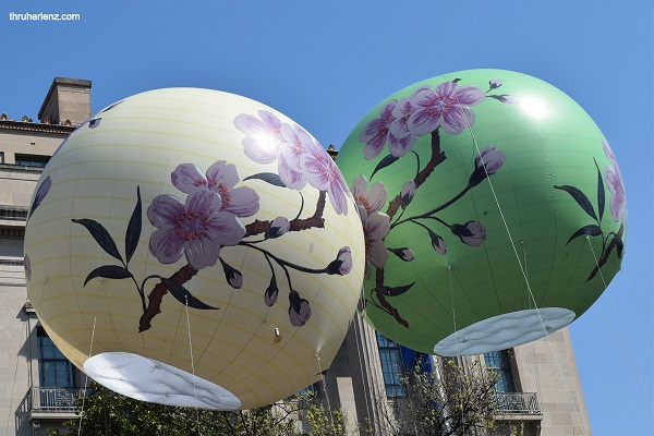 Asian Latern floats at National Cherry Blossom Parade