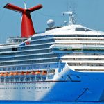 Carnival Cruise ship in the ocean