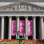 The National Archives set for the annual National Cherry Blossom Parade in Washington D.C.