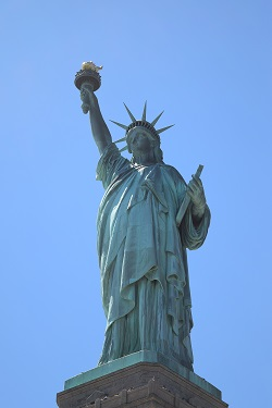 The Statue of Liberty national monument New York