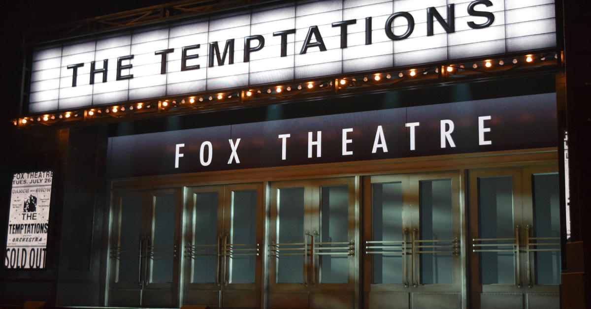 The Temptations Broadway musical stage