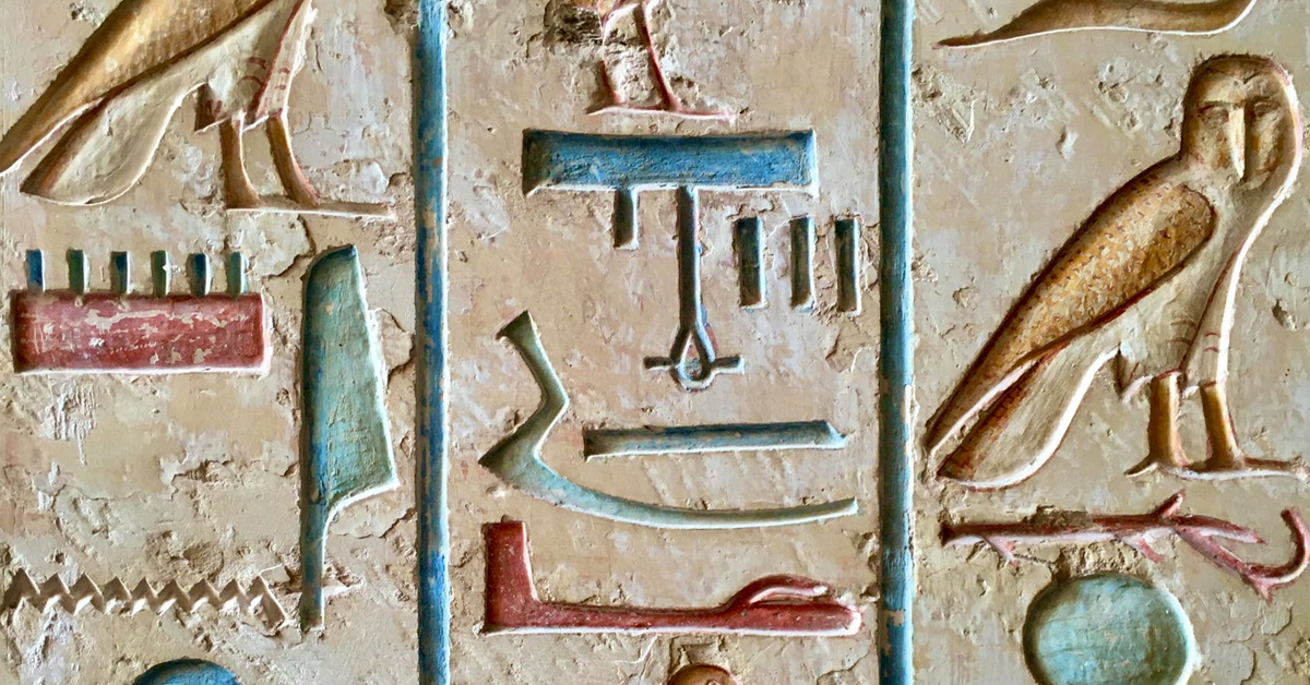 Colorful Hieroglyphs in Egypt