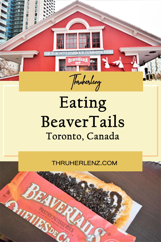 Eating BeaverTails in Toronto
