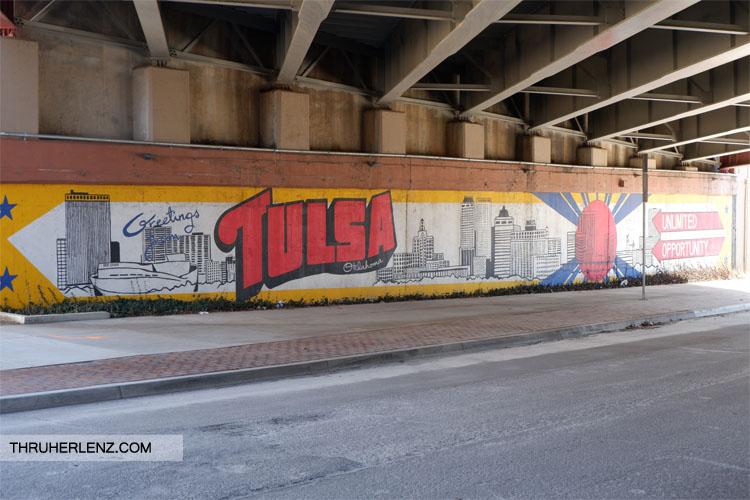 Tulsa street art under bridge