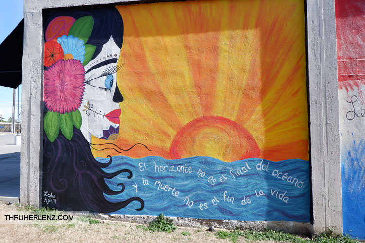 Mural of Woman with sunset in Tulsa