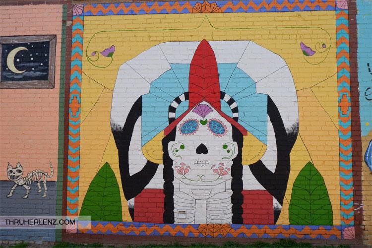 Street painting in Tulsa, Oklahoma Art District Art