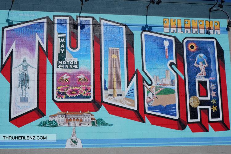 Tulsa street art sign