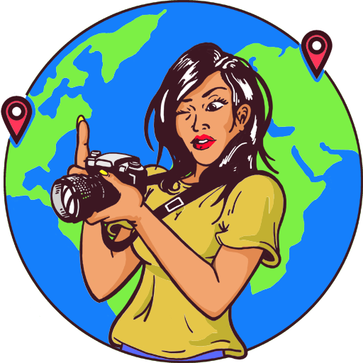 Travel blogger and millennial thruherlenz logo and favicon