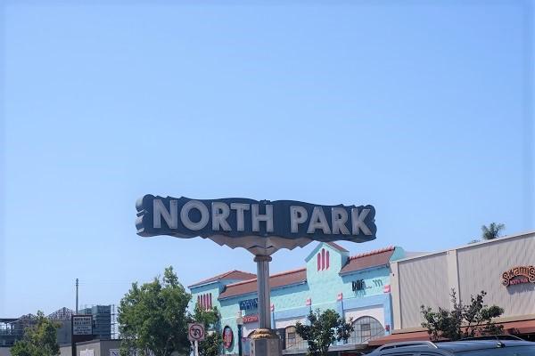 North Park neighborhood sign in San Diego, California