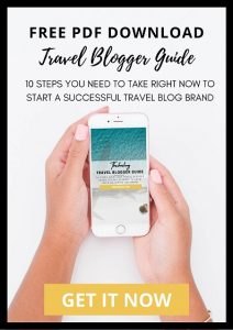 Free 20 page PDF download for travel blogger guide