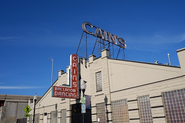 Cains Ballroom Dancing Red Sign in Tulsa Oklahoma