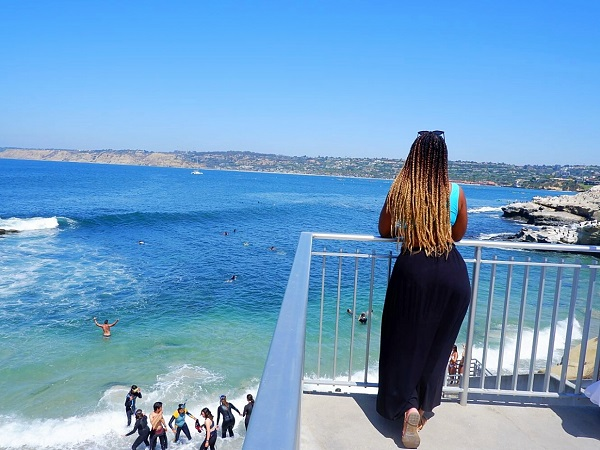 Black woman Overlooking La Jolla Cove