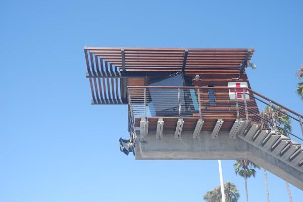 Lifegaurd station at La Jolla Beach in California