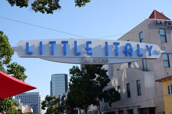 Little Italy San Diego neighborhood street sign