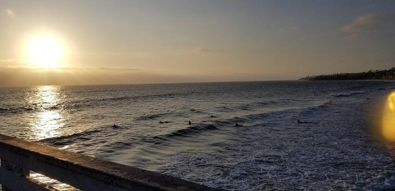 Pacific Ocean Sunset in San Diego