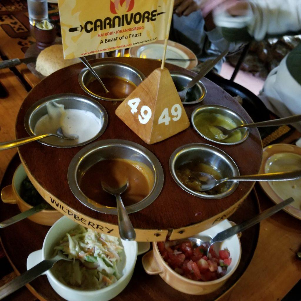 Nairobi, Kenya popular tourist restaurant Carnivore